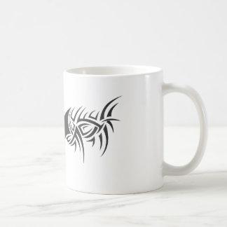 dragón tribal taza de café