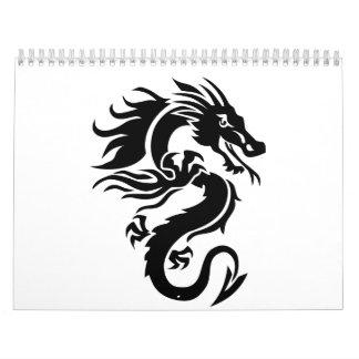 Dragón tribal calendarios