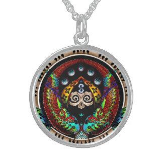 Dragon Twins Round Pendant Necklace