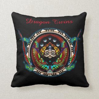 Dragon Twins Throw Pillow