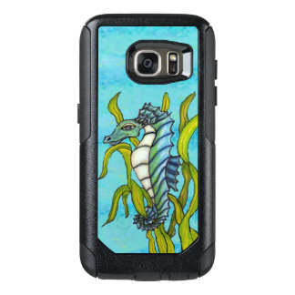 Dragon Type Blue Green Seahorse Floating Seaweed OtterBox Samsung Galaxy S7 Case