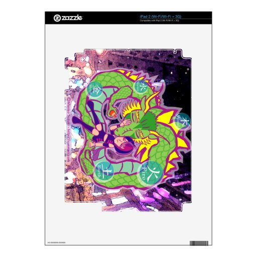 Dragón universal iPad 2 calcomanía