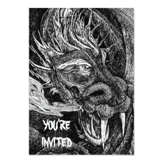"""Dragón """"usted es"""" invitación invitada"""