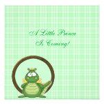 Dragón verde adorable en fiesta de bienvenida al b invitacion personal