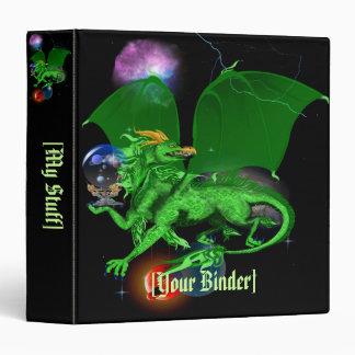 """Dragón verde binder_15_back.v4. del universo carpeta 1 1/2"""""""