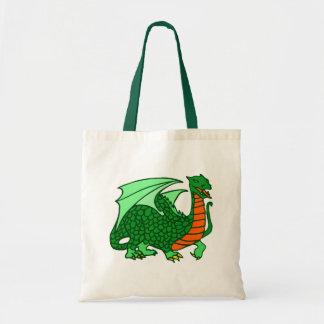 Dragón verde bolsa tela barata