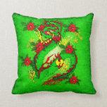 Dragón verde cojines