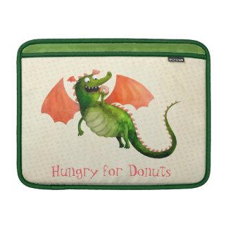Dragón verde con el buñuelo fundas macbook air