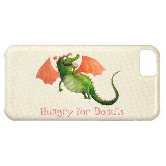 Dragón verde con el buñuelo funda para iPhone 5C