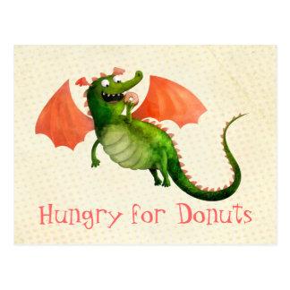 Dragón verde con el buñuelo postal