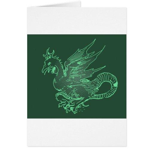 Dragón verde de Durer Felicitacion