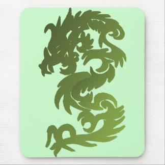 Dragón verde de la ji tapetes de raton