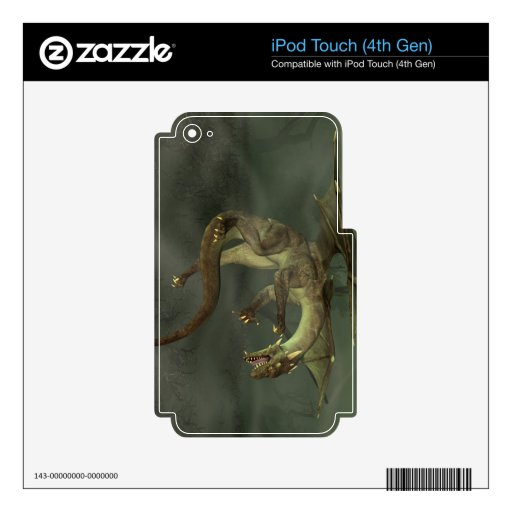 Dragón verde del pantano iPod touch 4G skins