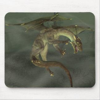 Dragón verde del pantano tapete de raton