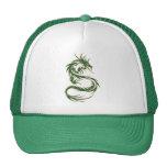 Dragón verde del tatuaje gorras de camionero