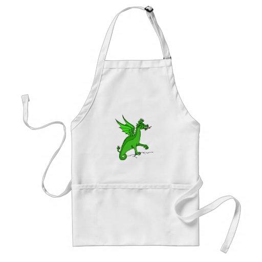 Dragón verde delantal
