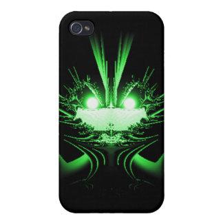 Dragón verde iPhone 4 cárcasas