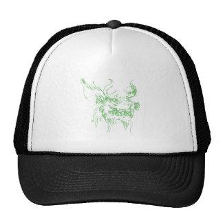 Dragón verde gorras