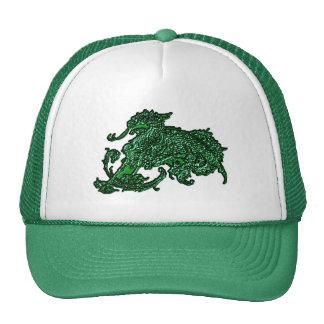 Dragón verde gorras de camionero