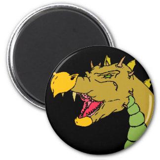 Dragón verde imán redondo 5 cm