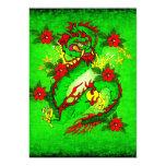 Dragón verde invitación 12,7 x 17,8 cm