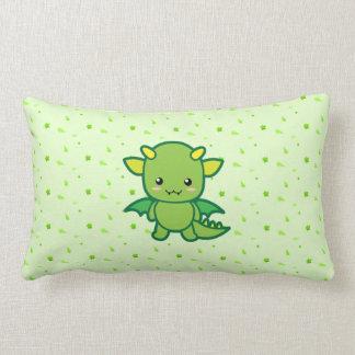 Dragón verde lindo almohadas