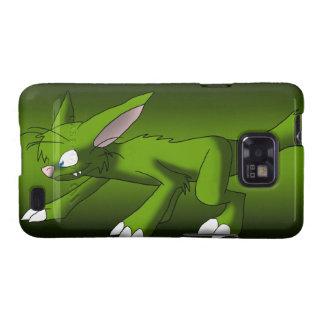dragón verde oscuro del gato 69A500 Galaxy SII Carcasas