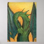 Dragón verde posters