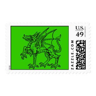 Dragón verde franqueo