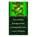 Dragón verde tarjetas de visita