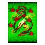 Dragón verde tarjetas personales