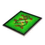 Dragón verde tejas