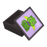 Dragón verde y amarillo de Chibi Caja De Joyas De Calidad