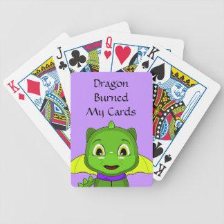 Dragón verde y amarillo de Chibi Baraja Cartas De Poker