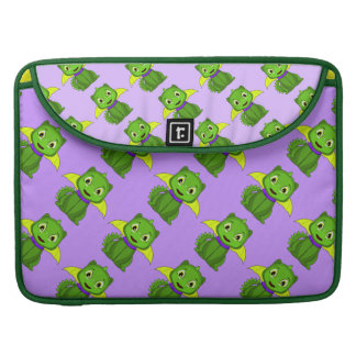 Dragón verde y amarillo de Chibi Funda Macbook Pro