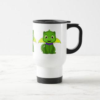 Dragón verde y amarillo de Chibi Taza De Café