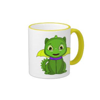Dragón verde y amarillo de Chibi Tazas