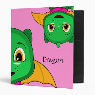 Dragón verde y anaranjado de Chibi
