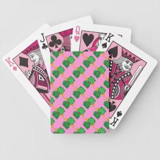 Dragón verde y anaranjado de Chibi Baraja Cartas De Poker