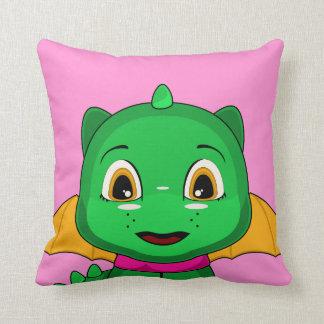 Dragón verde y anaranjado de Chibi Cojines