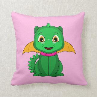 Dragón verde y anaranjado de Chibi Cojin