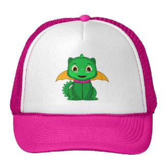 Dragón verde y anaranjado de Chibi Gorra