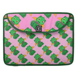 Dragón verde y anaranjado de Chibi Funda Para Macbooks