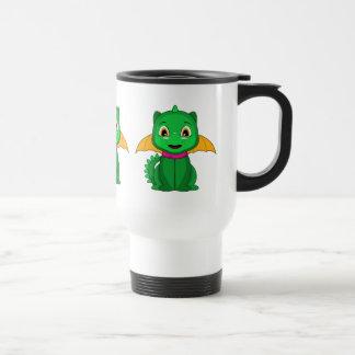 Dragón verde y anaranjado de Chibi Tazas De Café