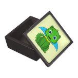 Dragón verde y azul de Chibi Cajas De Joyas De Calidad