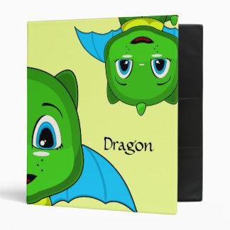 Dragón verde y azul de Chibi