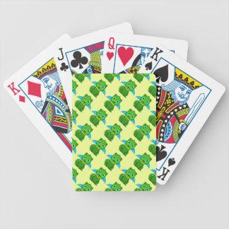 Dragón verde y azul de Chibi Baraja Cartas De Poker