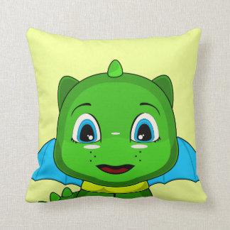 Dragón verde y azul de Chibi Almohadas
