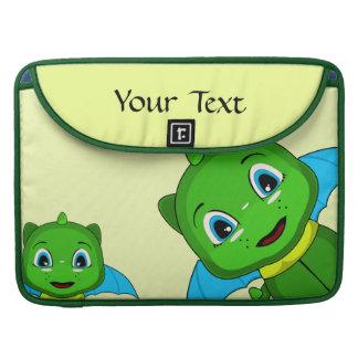 Dragón verde y azul de Chibi Funda Macbook Pro