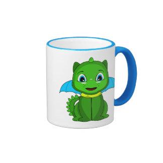Dragón verde y azul de Chibi Taza